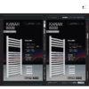 2019 02 kanah toallero T800 blanco ORIG REF 01 100x100 - Toallero Kanah Blanco 800x500  Para Calefacción por Agua