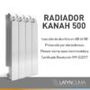 KANAH500 2.jpg 100x100 - Radiador Kanah Mod 500 x 4 Elementos. Aluminio Inyectado