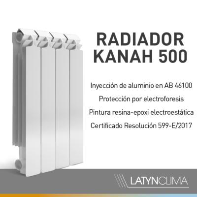 KANAH500 2.jpg 400x400 - Radiador Kanah Mod 500 x 2 Elementos. Aluminio Inyectado